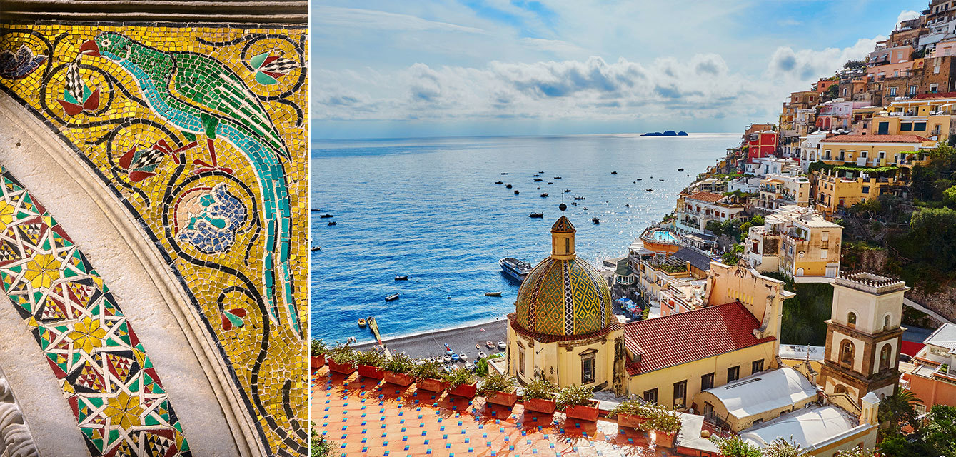 The luxury tourism flourishes in a paradise of beauty such as the Amalfi Coast.